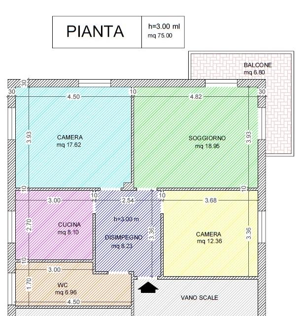 Appartamento in affitto a Imperia, 4 locali, zona Località: via meriello, prezzo € 550 | CambioCasa.it